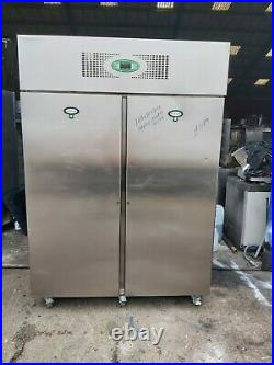 Commercial Foster upright double door fridge stainless steel 1300L heavy duty