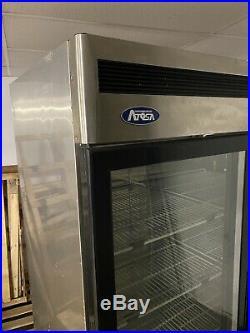 Commercial Fridge Double Glass Door Catering Atosa