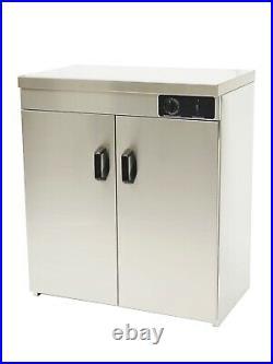 Commercial HOT CUPBOARD Plates Warmer, double door food warmer, 2 Shelves. Imettos