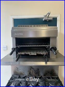Commercial Moorwood Oven Double Door Six Burner Gas Burner Hob Grill Salamander