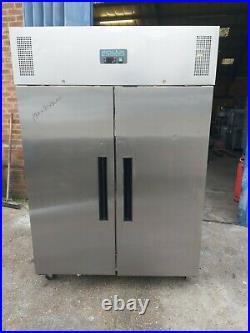 Commercial POLAR upright double door fridge chiller stainless steel liter +1/+4