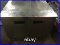 Commercial Polar Double Door Bench Counter Fridge EZ65
