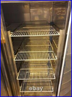 Commercial Stainless Steel Upright Double Door Fridge With Shelves VGC