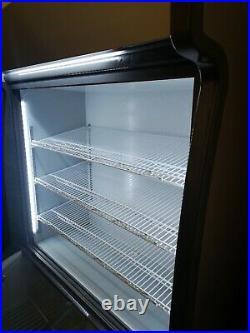 Commercial Upright double sliding door display fridge freezer