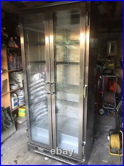 Commercial WEALD drinks beer Double glass door fridge Used BUT MINT CONDITION