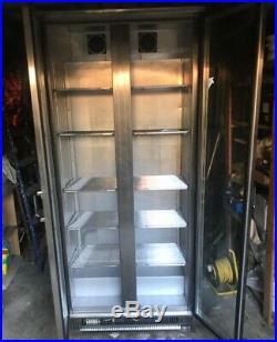 Commercial WEALD drinks beer Double glass door fridge Used Very Good Condition