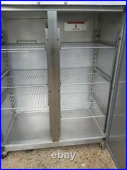 Commercial Williams upright double door fridge stainless steel 1350 liter used