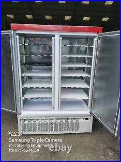 Commercial double door display freezer cake display freezer dairy desert display