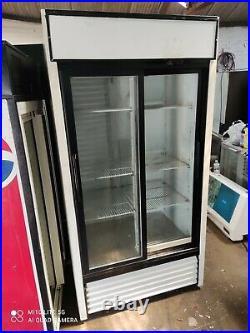 Commercial double door display fridge drinks bottle cooler dairy etc