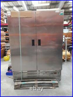 Commercial double door fridge