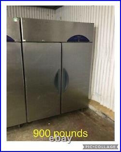 Commercial double door fridge Freezer