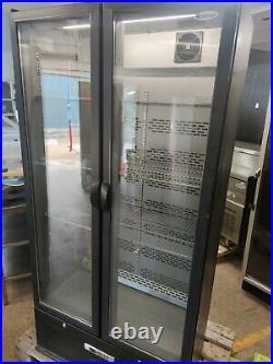 Commercial double glass door Wine Drinks Cooler Fridge Refrigerator Catering
