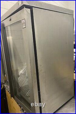 Commercial double glass door bar fridge