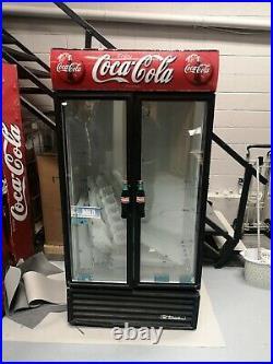 Commercial drink fridge chiller Coca Cola large double door