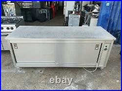 Commercial stainless steal hot cupboard double sliding door heavy duty 202x74x85