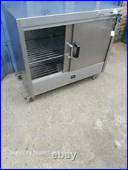 Commercial stainless steal hot-cupboard double sliding door worktop 110x70x95cm