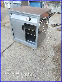 Commercial stainless steal hot-cupboard double sliding door worktop 72x65x85cm