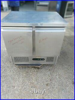 Commercial undercounter double door fridge work top fridge prep fridge 90CM wide