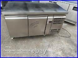 Commercial undercounter double door fridge work top fridge prep fridge catering