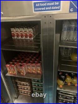 Commercial upright double door fridge/ chiller stainless steel heavy duty