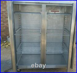 Commercial williams upright double door freezer stainless steal frozen -18/-21