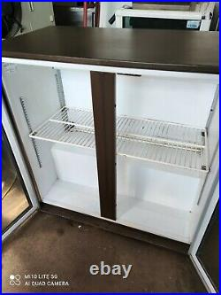 Cornelius under counter commercial double door glass fridge bottle cooler