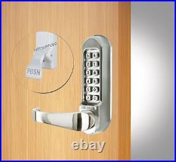 Digital Lever Handle Combination Key Push Button Digi Code Lock Panic Hardware
