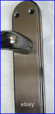 Door Handles Black Nickle Satin Duo Interior Lever Latch Marina Delux Modern D1