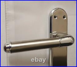 Door Handles Chrome Satin Two Tone Interior Lever Latch Marina Delux Modern D1