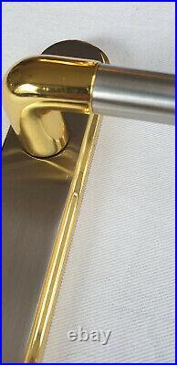Door Handles SATIN & BRASS Finish Two Tone Interior Lever Latch Marina Deluxe