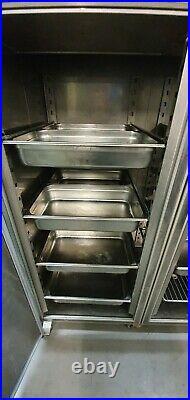Double Door Fridge Stainless Steel Commercial Fish Keeper Chiller