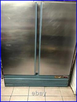 Double Door Fridge Stainless Steel Commercial (Used)