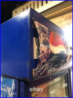 Double Glass Door Upright Commercial Display Fridge/ Chiller PEPSI LOGO