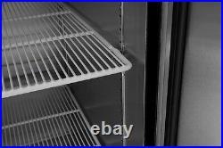 Double Split Top and Bottom 2 Door Commercial Store Restaurant Freezer NSF