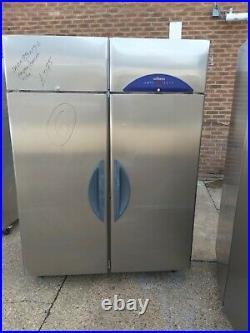 Double door restaurant fridge commercial stainless steal 2 door fridge 1350 L