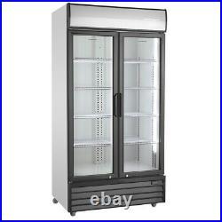 Double glass door fridge Commercial For Milk And Drinks