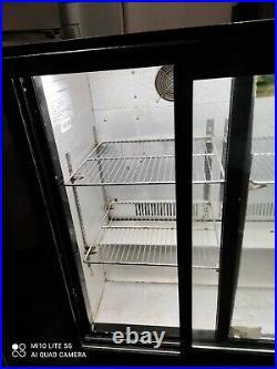 Eco cool Under counter commercial double sliding door glass fridge bottle cooler