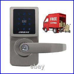 Electronic Touch Screen door Lock Lever Set Pin Code + RFID + Barrel LW4/LW5