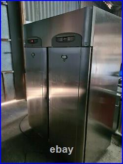 FOSTER 1100 Ltr Double Door Upright Freezer Stainless Steel Wheels Commercial