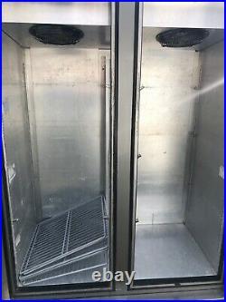 Foster Commercial Double Door Fridge Stainless Steel