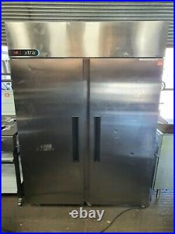 Foster Commercial Stainless Steel Upright Large Double Door Freezer
