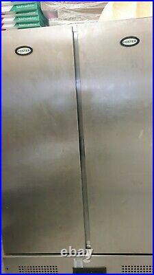 Foster Double Door Commercial Fridge. Stainless Steel