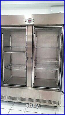 Foster Slimline Commercial Double Doors Catering Freezer Stainless Steel