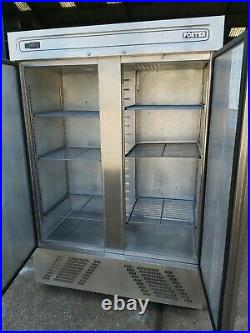 Foster slim line upright double door fridge commercial restaurant chiller +1/+4