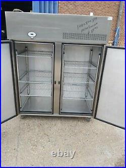 Foster upright double door fridge Low height commercial 2 door standing chiller