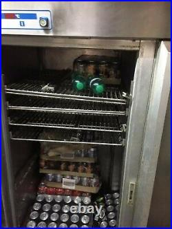 Grey Commercial GRAM Double Door Fridge With Trays and Space