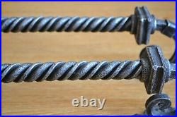 Hand forged door pull, Barn door pull, Steel pull handle, Wrought iron