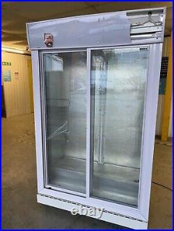 Husky Commercial Fridge Double Sliding Doors