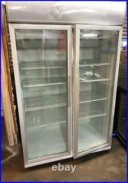 Husky Double Glass Door Commercial Display Fridge / Drink Fridge / Chiller- Used