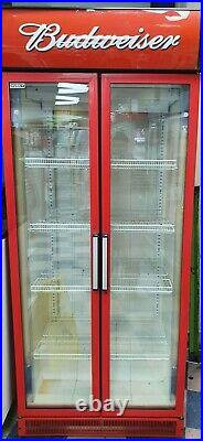 Husky commercial Double Doors Drinks Cooler Display fridge Fully Working